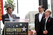 Trey Parker, Penn Jillette, Teller at Penn & Teller's induction into the Hollywood Walk Of Fame, Hol