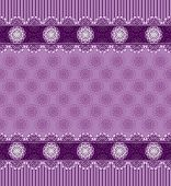 Seamless purple background with lace border