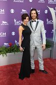 Jake Owen and Lacey Buchanan Owen at the 48th Annual Academy Of Country Music Awards Arrivals, MGM Grand Garden Arena, Las Vegas, NV 04-07-13