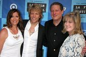 LOS ANGELES - JUNE 24: Jon Bon Jovi and wife Dorthea with Al Gore and Tipper Gore at a Special Outdo