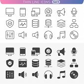 stock photo of raid  - Trendy line icons for web and mobile - JPG