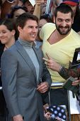 Tom Cruise with fan at the