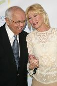 HOLLYWOOD - APRIL 21: Johnny Grant and Dee Wallace at the opening of Leeza's Place Care Center at Le