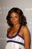 BEVERLY HILLS - APRIL 26: Sanaa Lathan at the Nina Ricci Fashion Show and Gala Dinner to Benefit The Rape Foundation at Barneys New York on April 26, 2006 in Beverly Hills, CA.