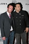 HOLLYWOOD - APRIL 06: Scott Weiland and Chef J at Flaunt Magazine Presents Nefarious Fine Jewelry Hosted by Velvet Revolver at Black Steel Restaurant on April 06, 2006 in Hollywood, CA.