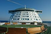 Bridge And Helicopter Deck On Cruiseship