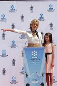 Jane Fonda, Viva Vadim at the Jane Fonda Hand And Foot Print Ceremony as part of the 2013 TCM Classi
