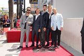 AJ McLean, Howie Dorough, Kevin Richardson, Nick Carter and Brian Littrell at the