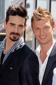 Kevin Richardson and Nick Carter at the