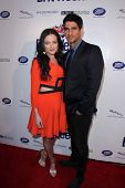 Lara Pulver and Raza Jaffrey at