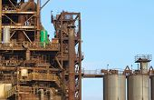 View of Pollution heavy industrial iron plant