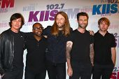 Matt Flynn, PJ Morton, James Valentine, Adam Levine and Mickey Madden of Maroon 5 at the 2013 Wango