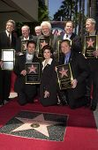 The Osmond family, Andy Williams, Johnny Grant, and Leron Gubler at the Osmond Family Star on the Ho