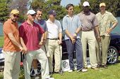 Richard Schiff, Michael Chiklis, Paul Michael Glaser, Gary Sinise, Ray Romano, Dennis Haysbert, Kevin Nealon at the Academy of Television Arts & Sciences Foundation Celebrity Golf Classic. 04-26-04
