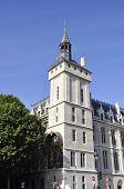 PARIS-AUGUST15:Conciergerie Tower with the Clock in Paris