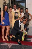 Steve Harvey and family at the Steve Harvey Star on the Hollywood Walk of Fame, Hollywood, CA 05-13-13