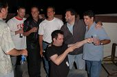 K.C. Armstrong, Reverend Bob Levy, Nick Di Paolo, Craig Gass, Artie Lange and Gary Dell'Abate at the