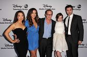 Ming-Na Wen, Chloe Bennet, Clark Gregg, Elizabeth Henstridge, Brett Dalton at the Disney Media Networks International Upfronts, Walt Disney Studios, Burbank, CA 05-19-13