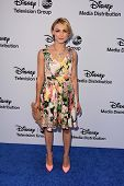 Samaire Armstrong at the Disney Media Networks International Upfronts, Walt Disney Studios, Burbank,