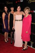 Lana Parilla, Mother, aunt Candice Azzara and Niece at the 2013 Gracie Awards Gala, Beverly Hilton H