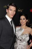 Alexander McQueen and Kerri Kasem at the 2013 Gracie Awards Gala, Beverly Hilton Hotel, Beverly Hills, CA 05-21-13