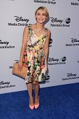 Samaire Armstrong at the Disney Media Networks International Upfronts, Walt Disney Studios, Burbank,
