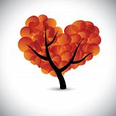 image of kamasutra  - heart shaped love tree with speech bubbles icons  - JPG