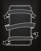 Hand drawn blackboard banner vector illustration