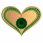 Emerald Heart Jewelry