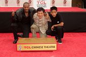 Chris Tucker, Jackie Chan, Jaden Smith at the Jackie Chan Hand and Foot Print Ceremony, TCL Chinese