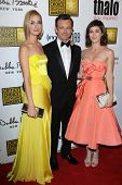 Caitlin Fitzgerald, Michael Sheen and Lizzy Caplan at the 3rd Annual Critics' Choice Television Awar