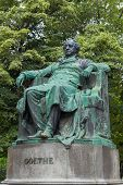 Goethe Monument In Vienna In Autumn Day