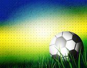 Brazil Summer 2014. Soccer Ball on background for Football