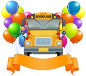 image of driving school  - Illustration of American school bus - JPG