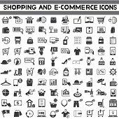 e-commerce icons, shopping, marketing icons