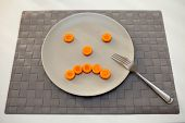 Plate With Sad Face From Carrot