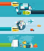 Icons For Web And Mobile Design,  Seo, Delivery Of Goods Motor Transport, By Air Transport, Water Tr