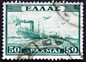 Postage Stamp Greece 1946 Naval Convoy