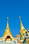Golden Pinnacle Of Thai Temple