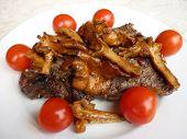 Steak And Chanterelles