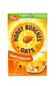 HAYWARD, CA - July 17, 2014: 18 oz box of Honey Bunches of Oats
