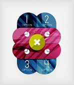 Modern infographic option layout made of glossy colorful round shaped overlapping elements