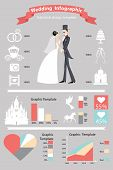 Wedding Infographics Set. Retro Cartoon