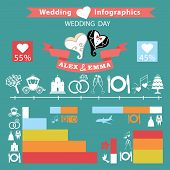 Wedding Infographics Set.wedding Day