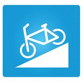 bicycle down way symbol