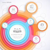 Colorful circle web template