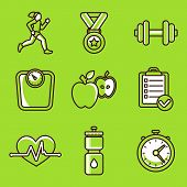 Vector Set Of Fitness Icons