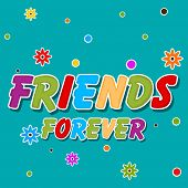 Happy Friendship Day celebrations greeting card design with colorful text on flowers decorated green