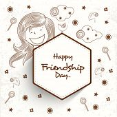 Happy Friendship Day celebrations seamless pattern background.