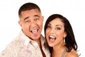 Laughing Hispanic Couple